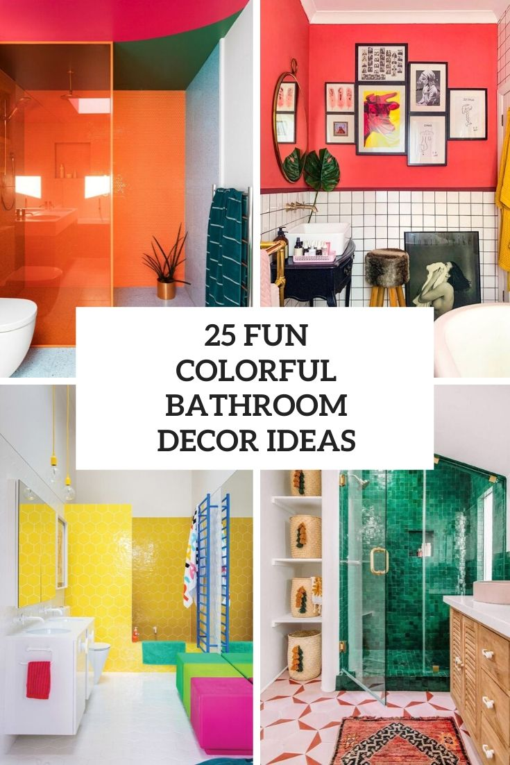 25 Fun Colorful Bathroom Decor Ideas Digsdigs