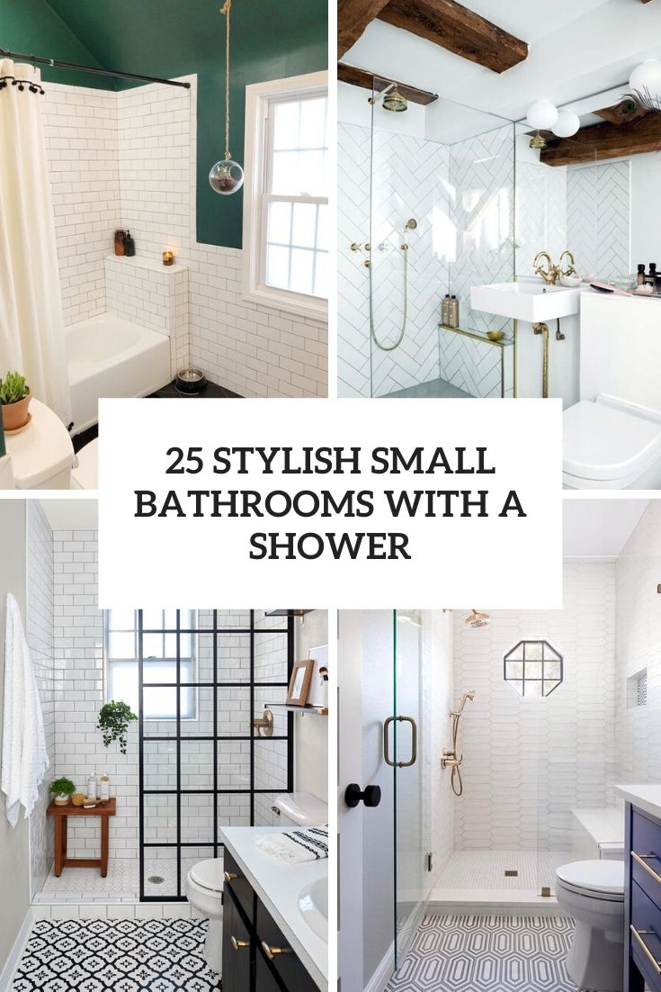 25 Stylish Small Bathrooms With A Shower Digsdigs