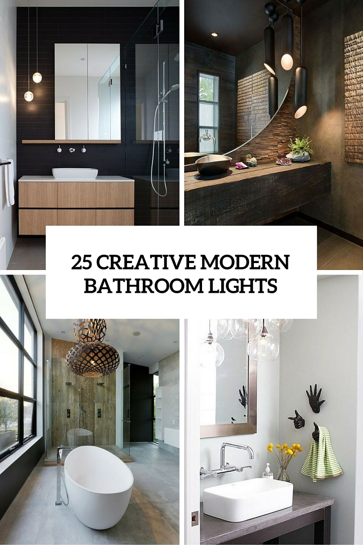 Modern Chandeliers Australia 25 Creative Modern Bathroom Lights Ideas You Ll Love Digsdigs