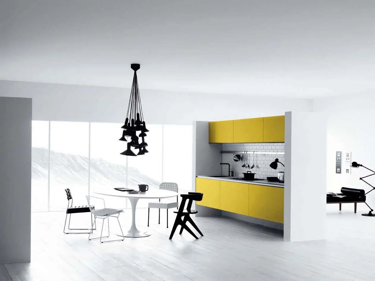 Kitchen Design Yellow Cabinets Cool White And Yellow Kitchen Design Vetronica By Meson