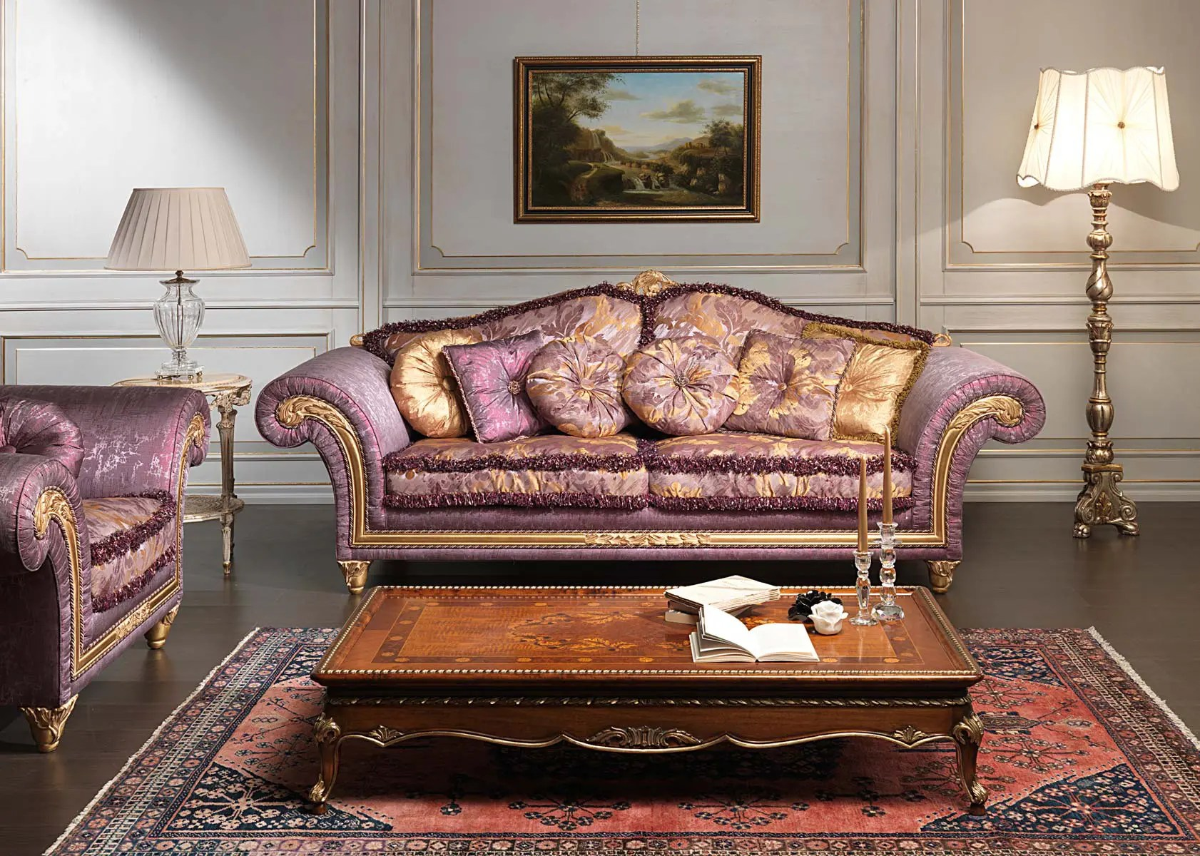 Furniture Designs Living Room Luxury Classic Sofa And Armchairs Imperial By Vimercati