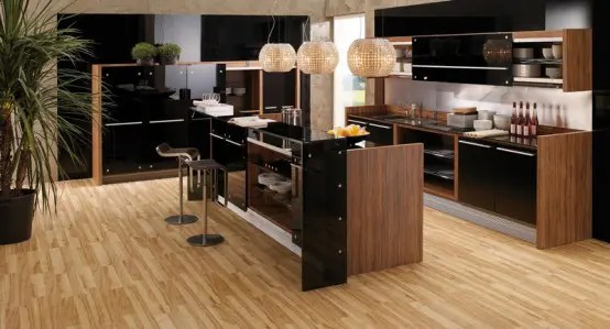modern kitchens wooden finish digsdigs contemporary french kitchen design kitchen tables images hnydt