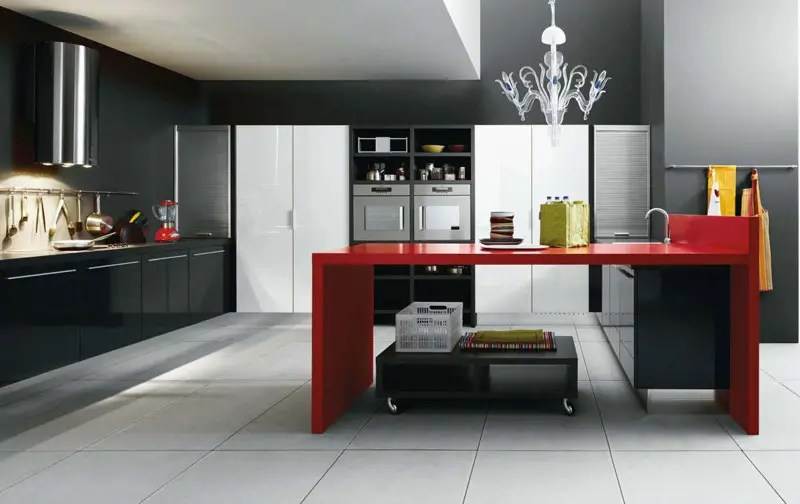 Red And Black Kitchen White, Black And Red Kitchen Design – Gio By Cesar | Digsdigs