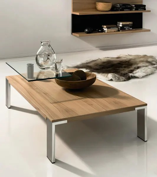 Couchtisch Boconcept Wood Coffee Table With Swing-out Glass Top - Ct 100 By