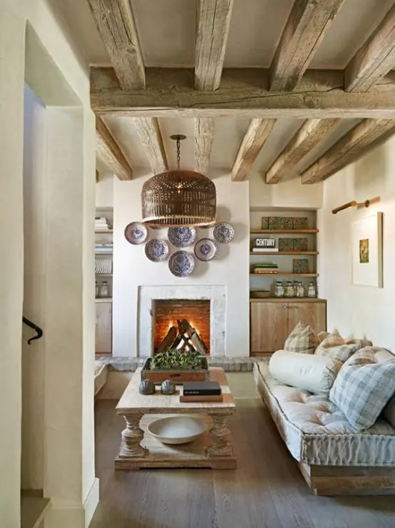 Décoration Maison Ancienne 55 Airy And Cozy Rustic Living Room Designs - Digsdigs