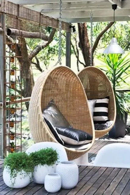 Lounge Garten 33 Awesome Outdoor Hanging Chairs - Digsdigs