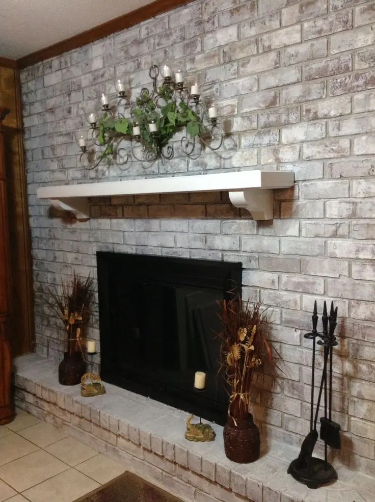 Whitewash Brick Fireplace 38 Awesome Whitewashed Fireplace Designs | Digsdigs