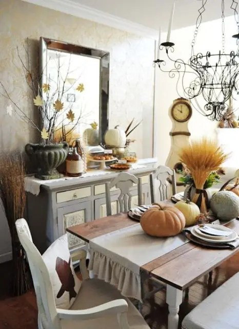 Design Couchtisch Leaf 30 Beautiful And Cozy Fall Dining Room Décor Ideas - Digsdigs