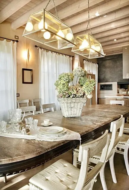 Rustic Furniture 25 Beautiful Neutral Dining Room Designs - Digsdigs
