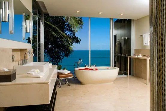 Deckenleuchten Modern Design 43 Calm And Relaxing Beige Bathroom Design Ideas - Digsdigs