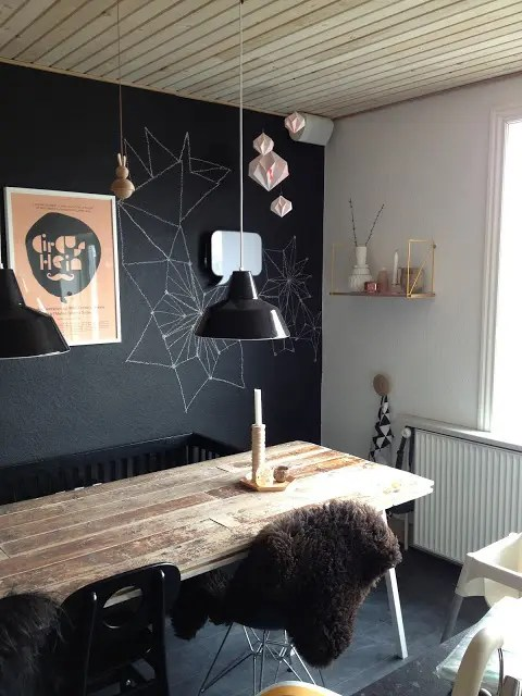 Home Office Design 31 Chalkboard Dining Room Décor Ideas You'll Love - Digsdigs