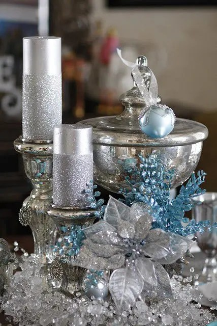 Ikea Front 35 Silver And Blue Décor Ideas For Christmas And New Year
