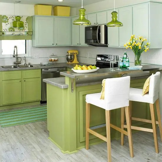 Decorating Ideas Sage Green Kitchen Cabinets Brown