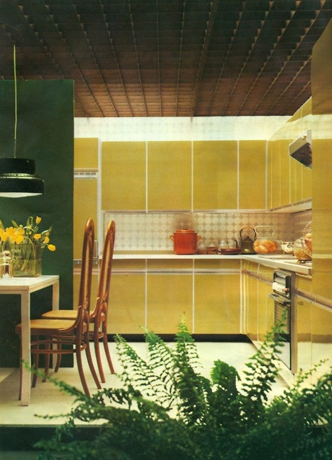 Contemporary Kitchen Cheerful Summer Interiors: 50 Green And Yellow Kitchen