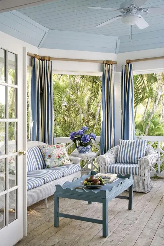Tray Ceiling Designs 25 Coastal And Beach-inspired Sunroom Design Ideas - Digsdigs