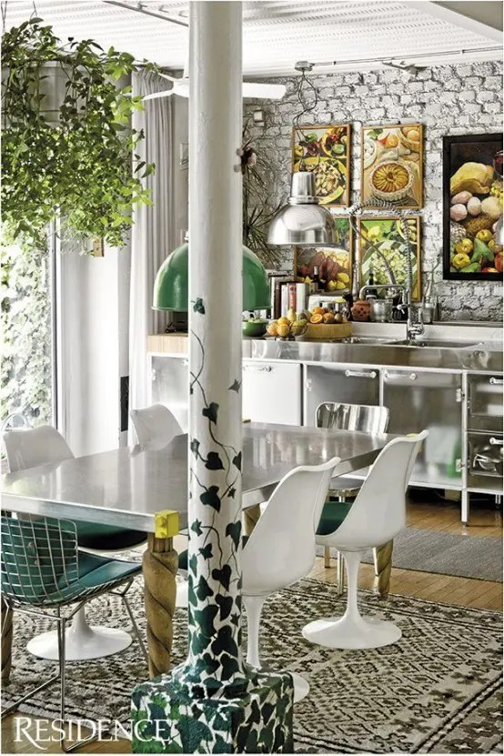 Living Room Interior Design Boho Chic 49 Colorful Boho Chic Kitchen Designs - Digsdigs