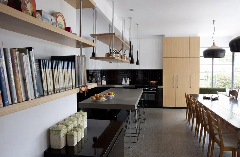 Black Kitchen Islands Cool Big Kitchen In Minimalist And Rustic Styles | Digsdigs