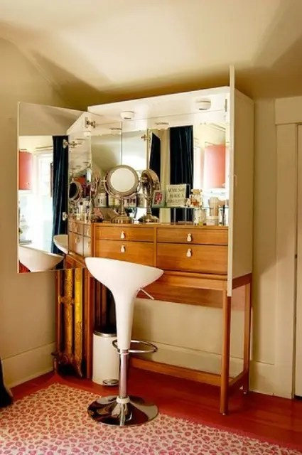 Wall Bookshelves 33 Cool Dressing Table Designs - Digsdigs
