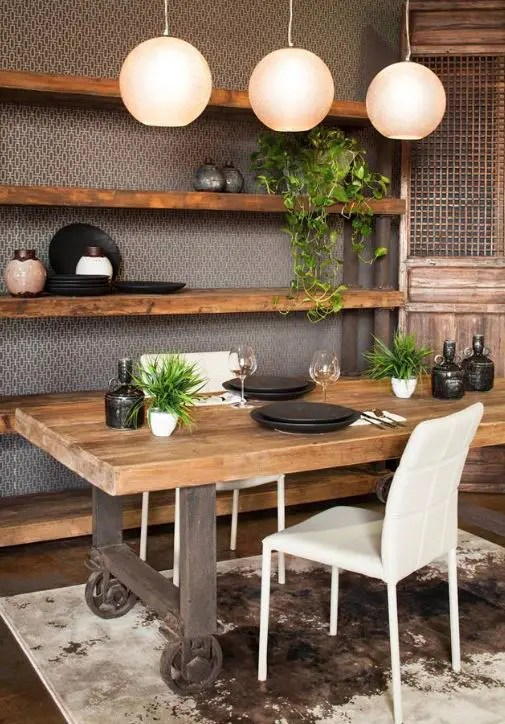 Industrial Vanity 35 Cool Industrial Dining Rooms And Zones - Digsdigs
