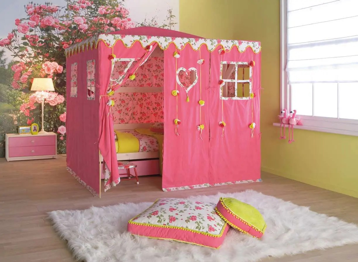 Kid Fun Bed Cool Kids Room Beds With Nice Tents By Life Time Digsdigs