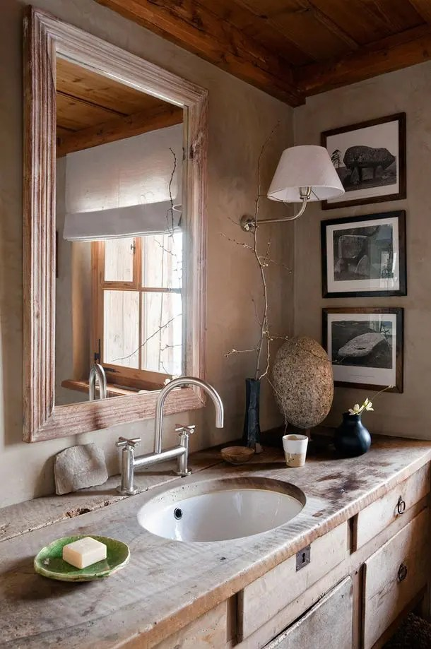 Muebles De Salon Modernos Baratos 39 Cool Rustic Bathroom Designs | Digsdigs