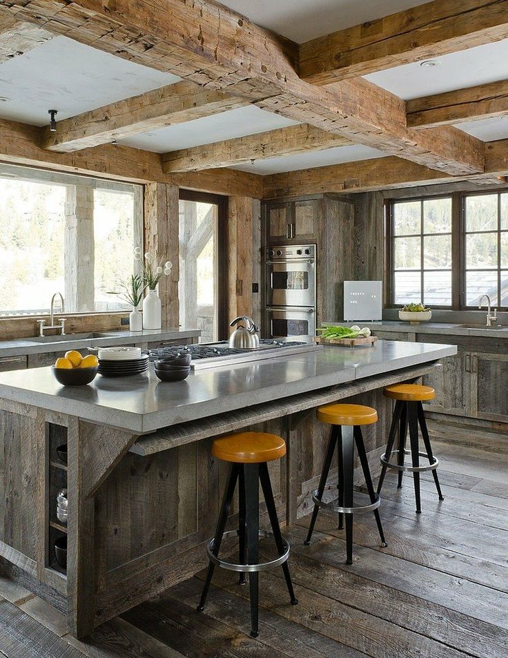Ikea Plancha 40 Cozy Chalet Kitchen Designs To Get Inspired | Digsdigs