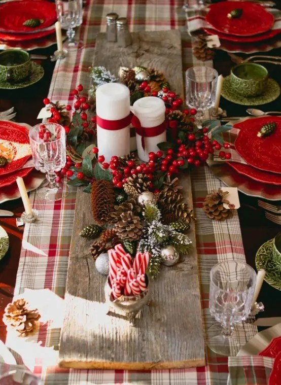 Ikea Vase 35 Cozy Plaid Décor Ideas For Christmas - Digsdigs