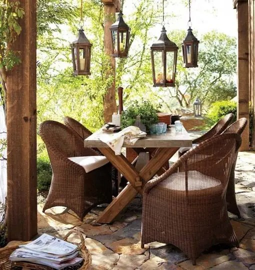 Table De Jardin Pvc 57 Cozy Rustic Patio Designs - Digsdigs