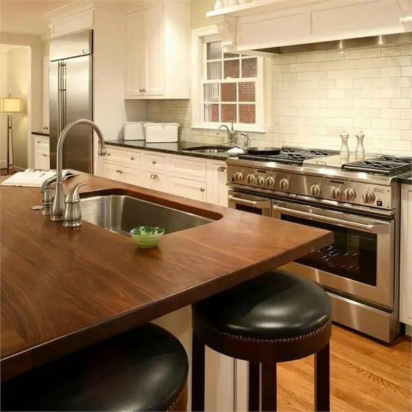 Wood Island Tops Kitchens 58 Cozy Wooden Kitchen Countertop Designs - Digsdigs
