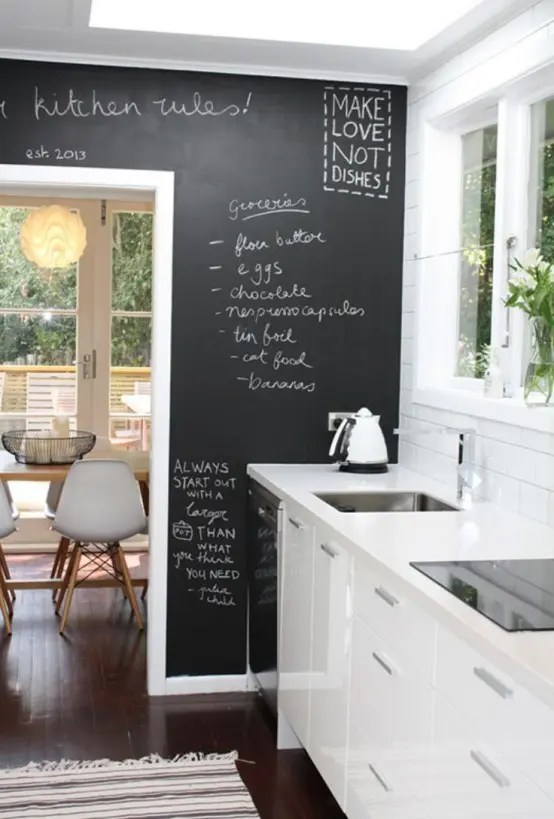 Ikea Cucina Nordico 35 Creative Chalkboard Ideas For Kitchen Décor - Digsdigs
