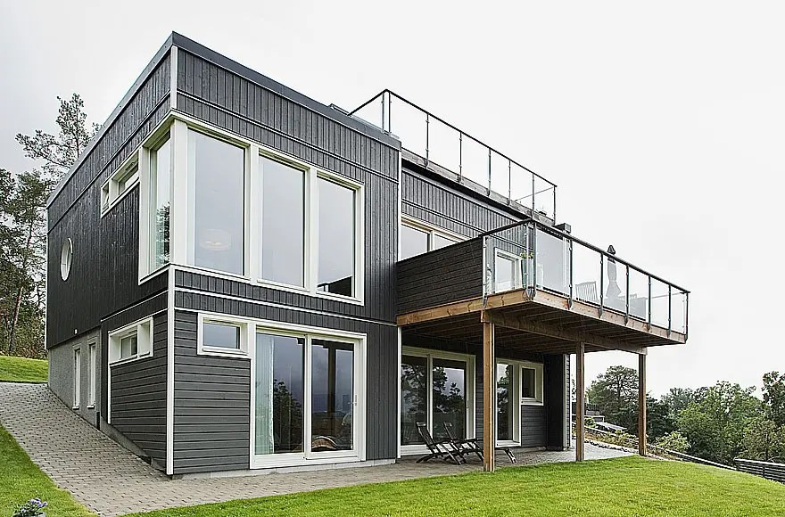 Swedish Design House Swedish House With Dark Wooden Exterior And Detached