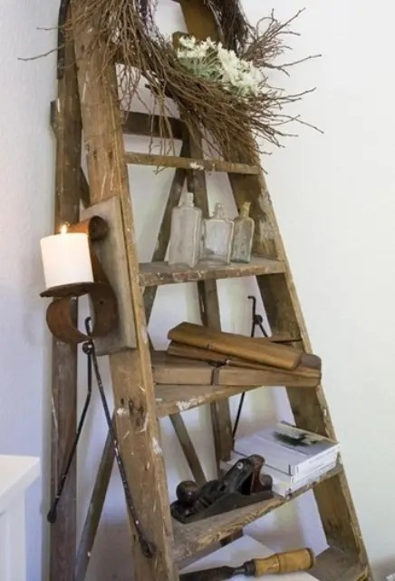 Ikea Besta Shelf 36 Décor Ideas With Ladders: Vintage Charm With Space