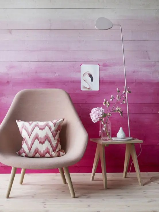 Hay About A Chair 27 Dreamy Ombre Wall Décor Ideas - Digsdigs