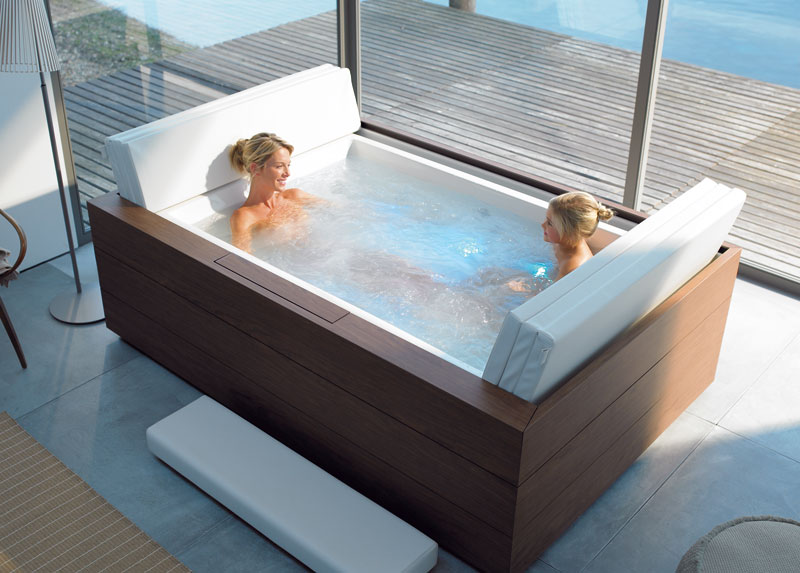 Whirlpool Outdoor Für 4 Personen New Duravit Pool System - Pool Tubs With Massage - Digsdigs