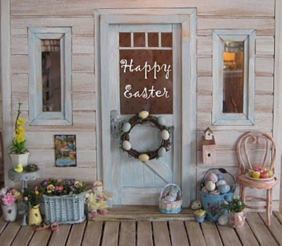 Shabby Style Selber Machen 30 Cool Easter Porch Décor Ideas - Digsdigs