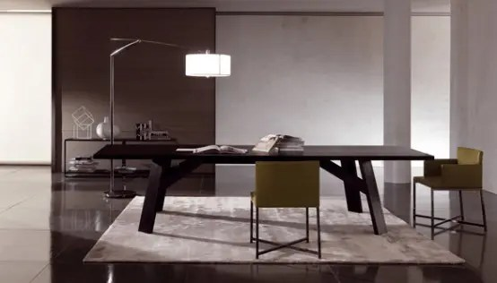 Elegant Coffee Tables Elegant Dark Wooden Table - Clark By Minotti - Digsdigs