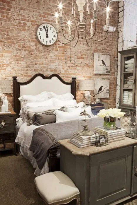 Shabby Chic Look 69 Cool Interiors With Exposed Brick Walls - Digsdigs
