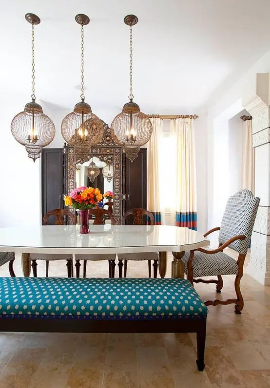 Boho Look 33 Exquisite Moroccan Dining Room Designs - Digsdigs