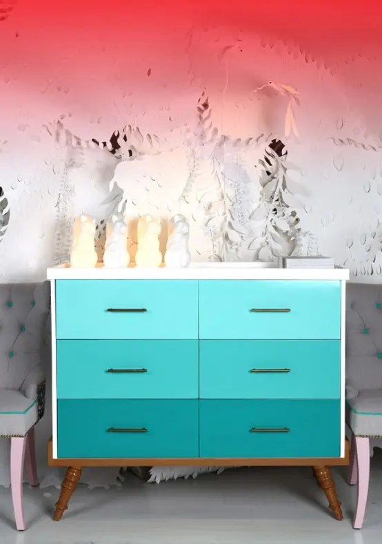 Ikea Chairs 25 Eye-catching Ombre Furniture Pieces - Digsdigs