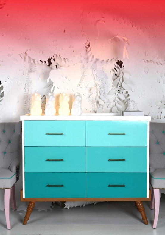 Besta 25 Eye-catching Ombre Furniture Pieces - Digsdigs