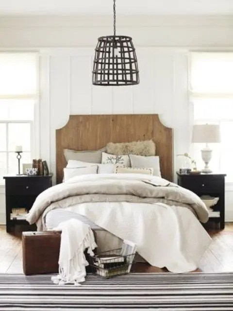 Wall Color For Small Living Room 37 Farmhouse Bedroom Design Ideas That Inspire - Digsdigs