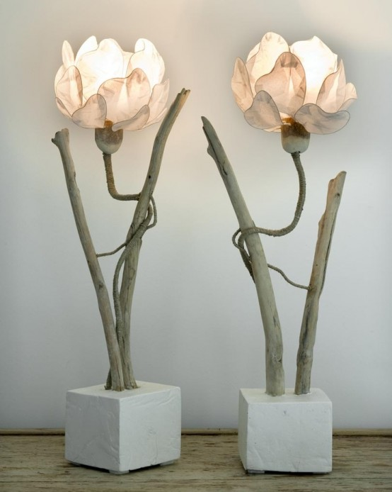 Modern Wood Chandelier Touch Of Nature In Decor: 25 Flower And Plant Inspired
