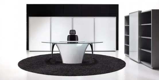 Elegant Desks For Home Office Futuristic Desks For Home Office – Luna By Uffix - Digsdigs