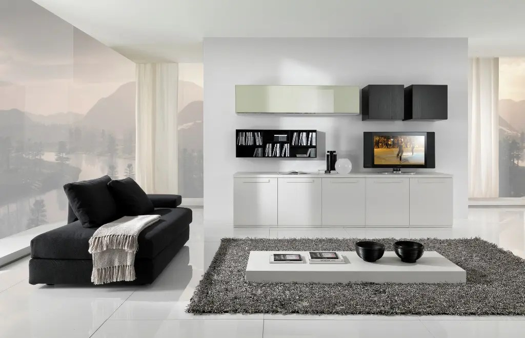 Modular Furniture Modern Black And White Furniture For Living Room From