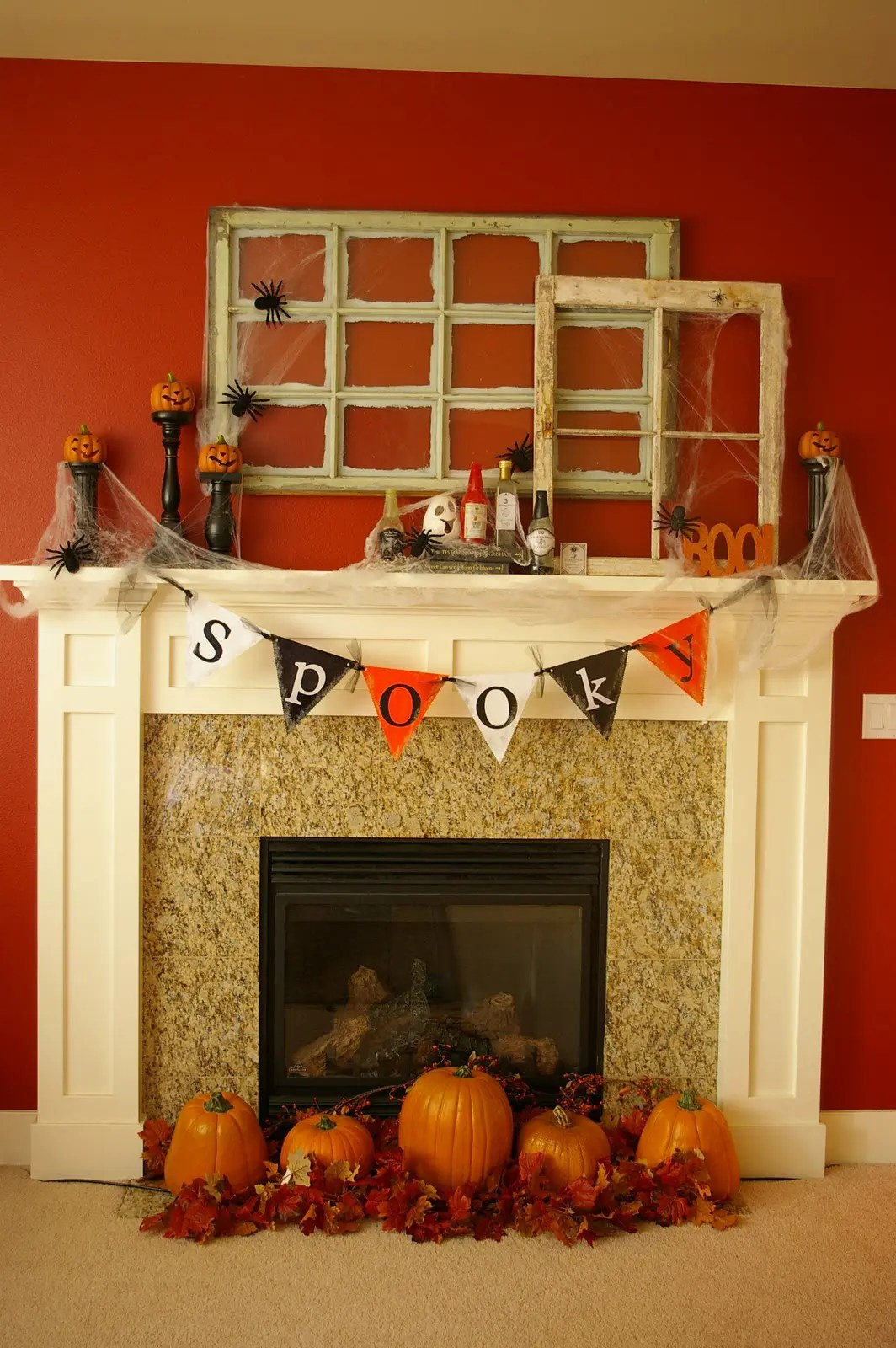 Mantelpiece Ideas 50 Great Halloween Mantel Decorating Ideas Digsdigs