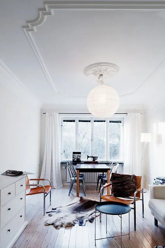 Luminaire Pour Salon How To Create A Vintage Ceiling: 3 Ways And 20 Ideas
