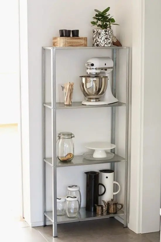 Metal Stools Ikea How To Rock Ikea Hyllis Shelves In Your Interior: 31 Ideas