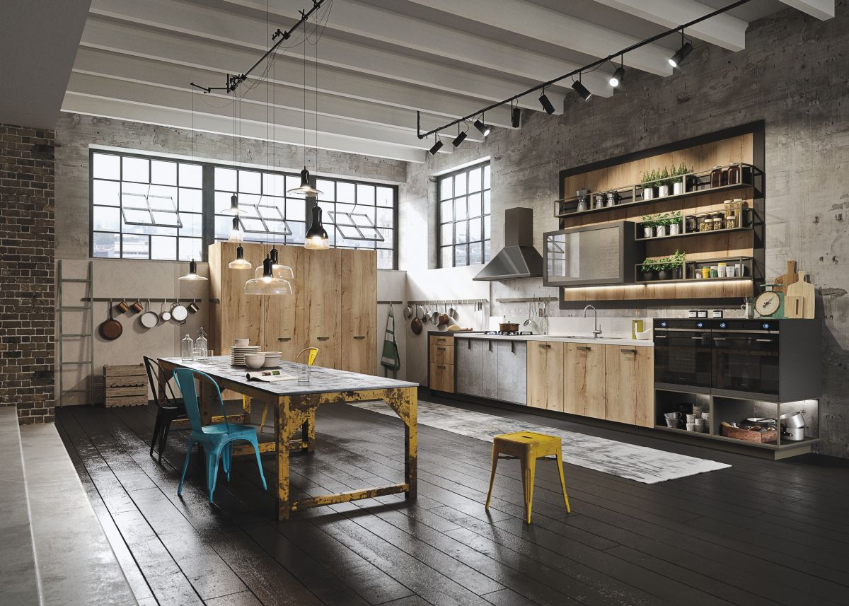 Cuisine Style Loft Industiral And Rustic Loft Kitchen By Snaidero Digsdigs