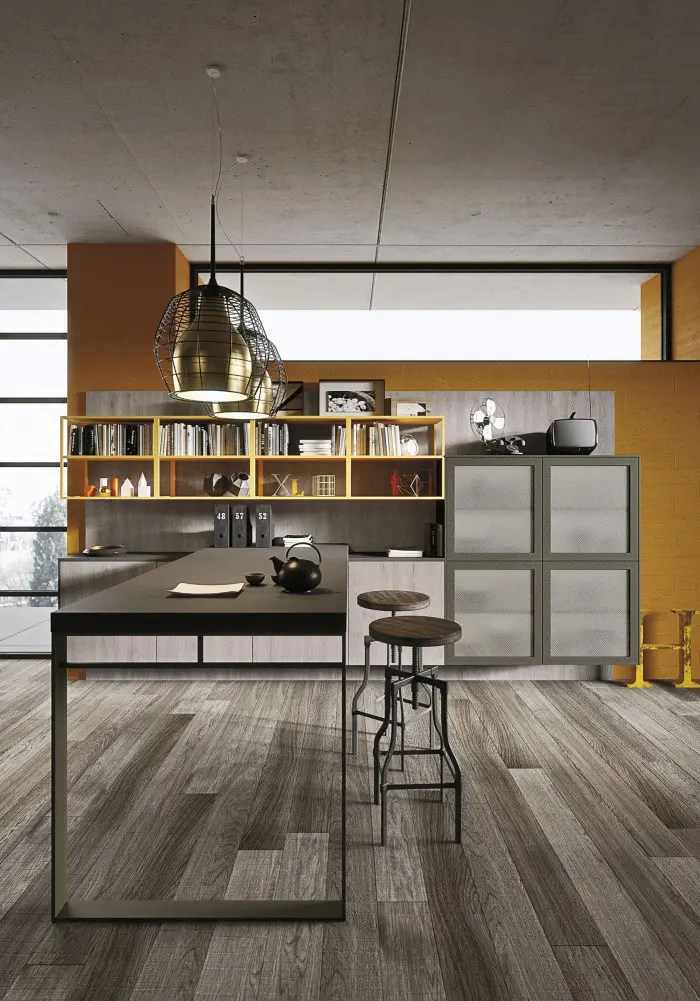 Kitchen Cabinets With Windows Industrial Loft Kitchen With Light Wood In Design - Digsdigs