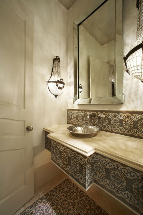 How To Cut Glass Tile 61 Inspiring Moroccan Bathroom Design Ideas - Digsdigs